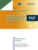 Indicadores Sociodemograficos Potosí