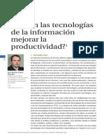Pueden Las TIC Mejoras La Productividad