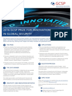 2016 GCSP Prize for Innovation in Global Security Flyer