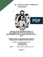 IMPLEMENTACIÓN DE UN CENTRO DE ESPARCIMIENTO EN LA CIUDAD DE CHICLAYO