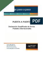 Guía paso a paso - Declaración Simplificada de Envíos Postales Internacionales