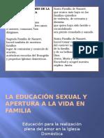 La Educación Sexual y Apertura a La Vida