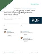 Canal Morphology of Single-Rooted Mandibular