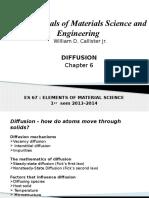 ES 67 Chapter 6 Diffusion