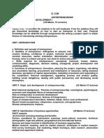 Goa University Entrepreneurship Development Sem V Syllabus