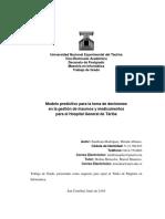 Modelo predictivo para la toma de decisiones en la gestión de insumos y medicamentos para el Hospital General de Táriba