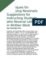 Techniques for Reversing Reversals