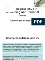 K2 - Psychological Issue in Advancing and Terminal Illness