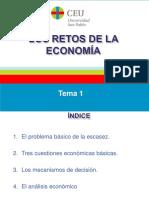 Tema 1- Los Retos de La Economía