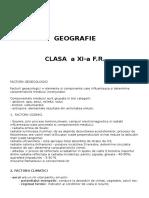 Geografie Suport de Curs a XI A