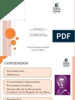 Presentacion MBA Industrias Creativas Región de Los Ríos