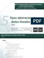 T5 - TAD Lineales - Pilas