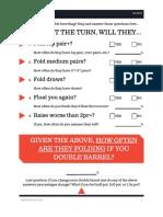 Double Barrel Checklist