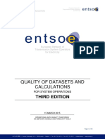 Quality of Datasets and Calculations