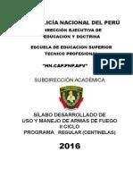 Silabo Uso y Manejo de Armas de Fuego II 2016 Centinelas (1) (1)