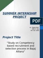 Summer Internship Project (Ppt)