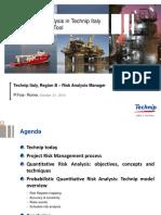 Cost Sensitivity Analysis in Technip Italy