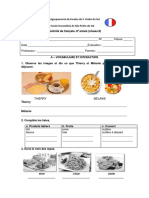 Teste de avaliação - Francês