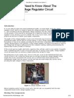 The Motherboard Voltage Regulator Circuit