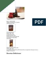 Recetas Volcan de Chocolate Hershey
