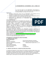 Diagnóstico de La Problemática Estudiantil en El Área de Comunicación_2016