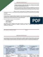 Análisis de Cadenas en Retícula ISC