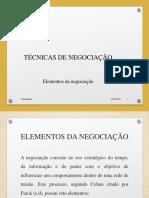 Cap. III - Elementos Da Negociação