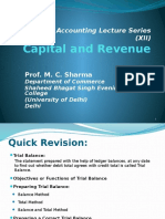 Capital and Revenue Income and Expenditure