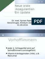 Neue Orale Antikoagulantien, Dortmund, Deutschland, 01.09.2016