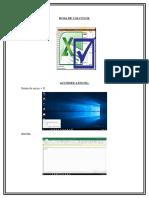Hoja de Cálculos Excel
