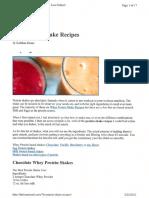 101 Protein Shake Recipes