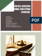 Relación Del Derecho Constitucional Con Otras Ciencias