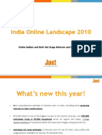 India Online 2010 Brochure - A Study Conducted by Juxt