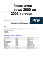 Reseau Windows 2000 2003