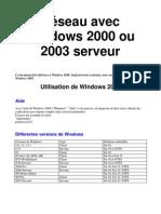 Reseau Windows 2000 2003