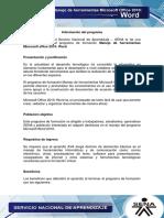 Informacion Programa Word