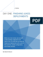 DO FInish Junos Deployments