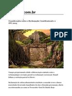 Considerações Sobre a Reclamação Constitucional e o CPC 2015