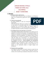 LIGA GREMIAL Futsal Base y Condiciones