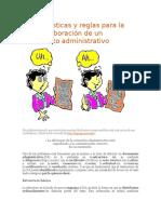 Características y Rxzeglas Para La Mejor Elaboración de Un Documento Administrativo