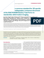 2d Speckle Tracking Echocardiography