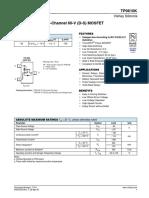 Vishay TP0610K T1 GE3 Datasheet