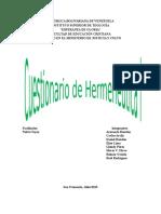 Cuestionario de Hermeneutica