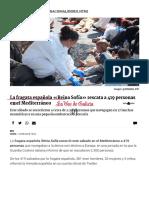 La Fragata Española «Reina Sofía» Rescata a 419 Personas en El Mediterráneo