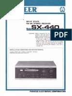 Pioneer SX-440 Service Manual