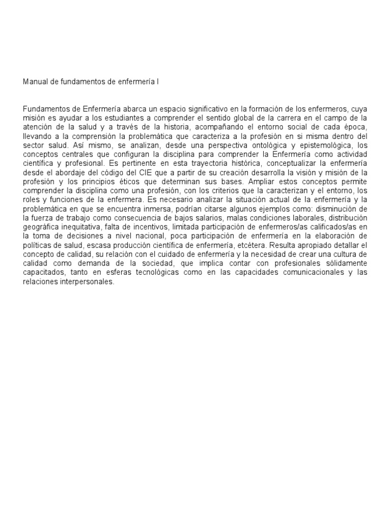 Manual de Fundamentos de Enfermería I