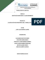 Clasificación de Inventarios ABC  y modelo de Inventarios