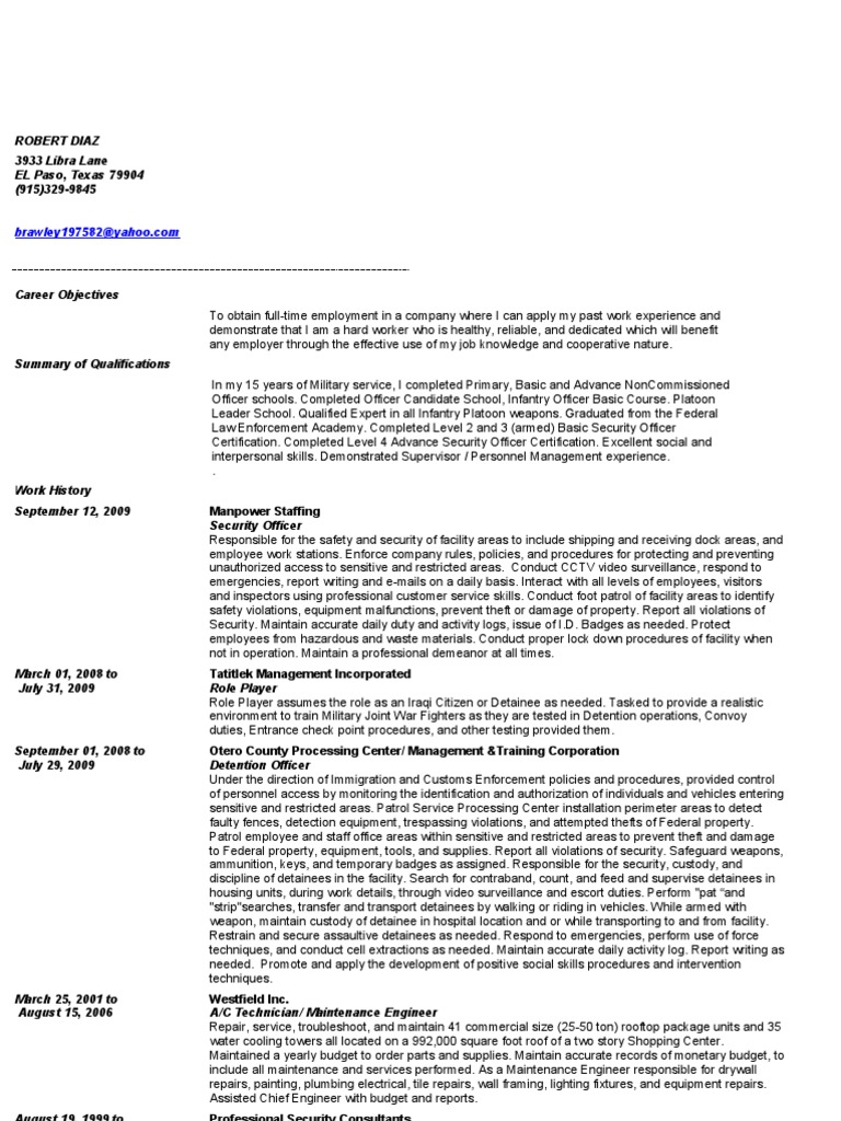 Jobswire resume of brawley197582 security guard officer jobswire resume of brawley197582 security guard officer armed forces 1betcityfo Gallery