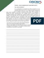 PRODUÇÃO ESCRITA - Texto Dissertativo-Argumentativo