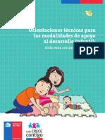 Orientaciones Técnicas Para Las Modalidades de Apoyo Al Desarrollo Infantil Marzo 2013